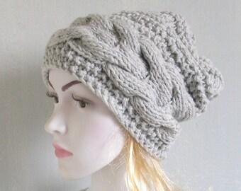 Women's Knit Hats, Women's Winter Hat, Women's Hats, Hand Knit Hat Women, Knit Hat Woman, Cable Knitted Hat Women Knit Hat Braid