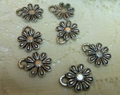 8-Cute Tibetan Silver  Daisy Charms Pendants Dangles