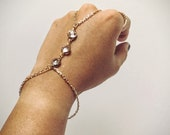 gold hand chain stone bracelet ring bracelet slave bracelet finger bracelet boho jewelry gold bracelet gift for her | Inara gold bracelet