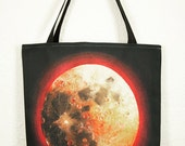 "Tote Bag, 'Full Harvest Moon' by Shelley Irish, 18"" x 18"", Original Art Bag"