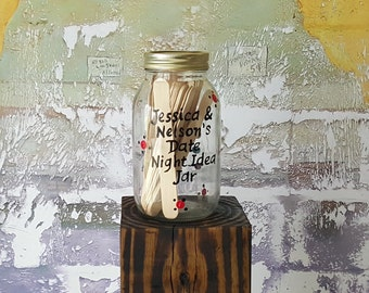 Date Night Jar, Date Idea Jar,Couples Shower Game Bridal Shower Game Date Night Idea Jar for wedding shower