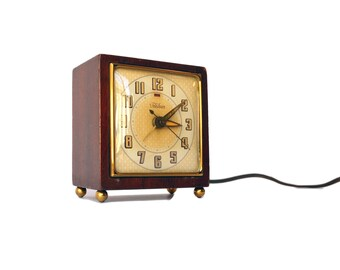1950's Vintage Telechron Alarm Clock Model 7H209 Gracewood Clock