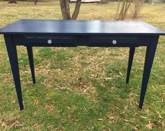 Computer desk,  entry table, black, shabby chic, FREE SHIPPING