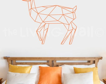 Geometric Deer Decals Wall Art, Geometric Animals Woodland Home Decor Wall Stickers Deer Wall Decal Bedroom, Australian Made