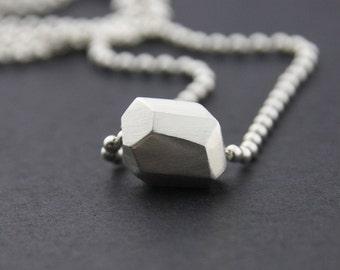 Single Facet Pendant: Sterling Silver
