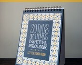 Set of 20 - 30 Days of Hymns Perpetual Desk Calendar