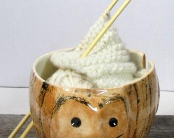 Cat Yarn bowl Knitting bowl  Knitter gift Ready to ship