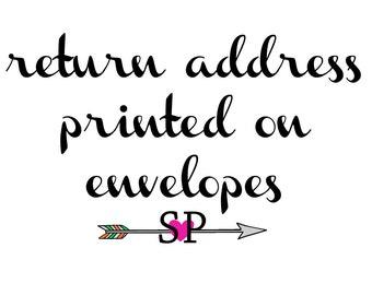Return Address Printed on 25 Envelopes - Add-on