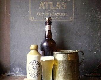 Vintage Large Brass Handmade Tankard - Beer Mug - Pitcher - Rustic Vase