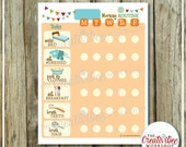 DAILY Morning Routine Chart | EDITABLE NAME | Printable Morning Chart | Orange Theme |  Routine Chart | Task Chart | Monday to Friday