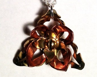 Steampunk Morning Glory Necklace