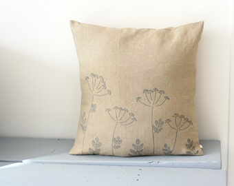 Cushion cover with dill flowers