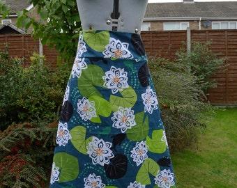 Elegant Lily pad A-line skirt