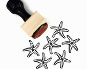 Starfish Stamp - Summertime Craft Hand Drawn Rubber Stamp - Beach Wedding Favor DIY - Sunny Summer Stamps by Creatiate