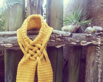 Scarf Pattern knitting PDF Weave accessories - knit Scarves - unisex adult pattern - Instant Download