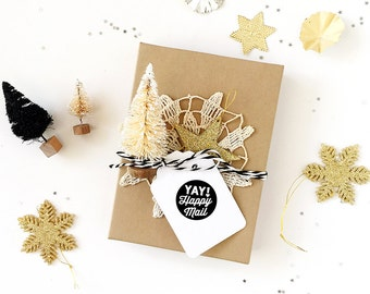Yay! Happy Mail - Perfect for Packaging store products, Scrapbooking, Planners, Project Pages, Gift giving