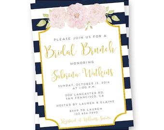 Wedding Shower Invitation - Bridal Shower Invitations - Navy Wedding Shower Invitations