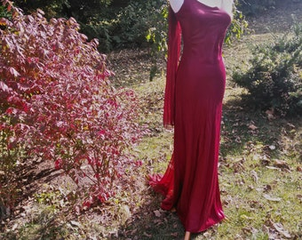 Outstanding Red Zum Zum Bomb Shell Maxi Dress by Niki Livas