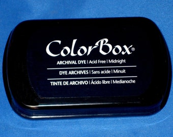 Navy Ink Pad Color Box Archival Dye Inkpad Navy Blue Permanent Ink Pad for Your Custom Stamps Made in the USA Stamp Pad Midnight Blue