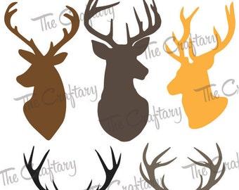 Deer Antler Collection SVG Files