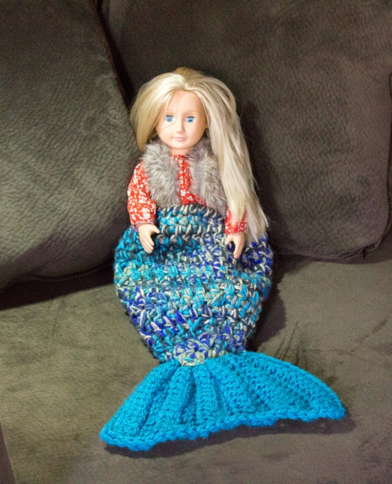 Mini Owl Amigurumi Pattern : Mermaid Tail Crochet Blanket for 18 dolls Newborn or