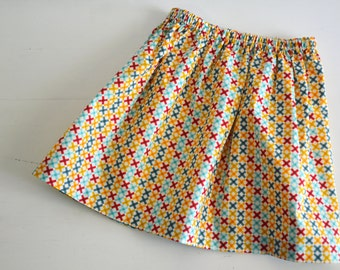 Girls Skirt - Toddler Skirt - Girls Clothing - colorful cross - spring and summer fashion