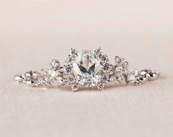 Crystal Wedding Bracelet, Bridal bracelet,  Blue bridal jewelry,  Wedding jewellery, Raquel Bracelet