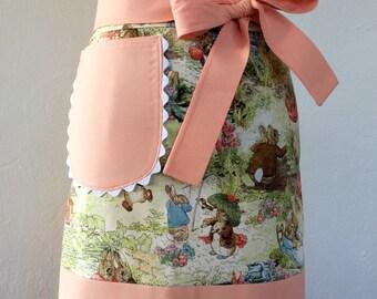 "Easter Retro Half Apron: ""The Lila-Rose"" Vintage Inspired Apron, Hostess Apron, Vintage Style, Kitchen, Housewarming, Stylish Cooking"
