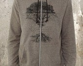 Tree Schematics Diagram - Men's Rocky Eco Mock-Twist Hoodie - Sizes Up to 2XL Available