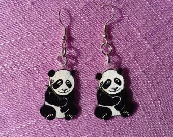 Panda earrings Baby Panda earrings