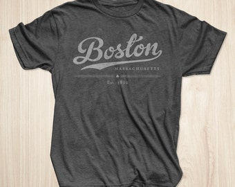 Boston T Shirt in Heather Charcoal