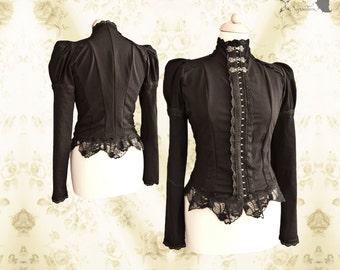 Top Victorian, romantic goth, Steampunk shirt, Devota, Somnia Romantica,  size medium see item details for measurements