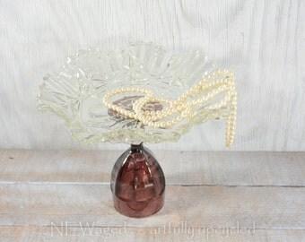 Dessert pedestal stand, vintage inspired dessert plate, wedding gift