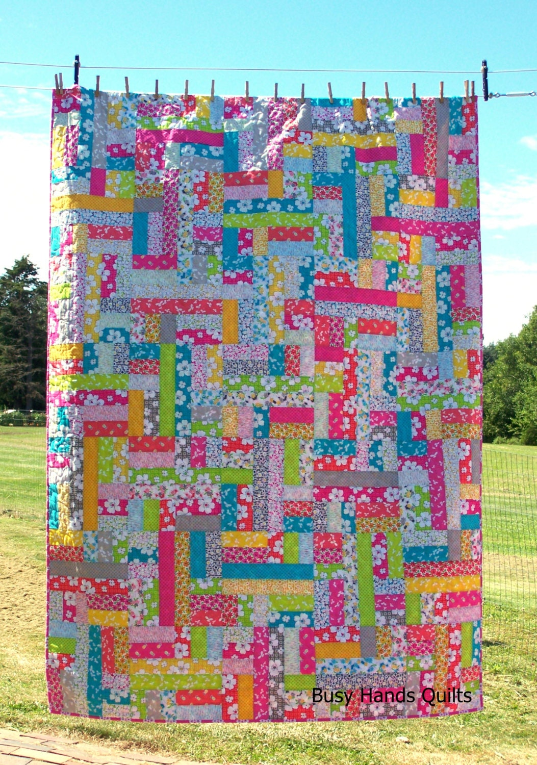 Ready to ship twin quilt modern patchwork scrappy quilts for Spaceship quilt