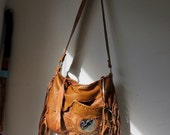 Honey light brown bohemian fringe tote hobo tribal asymmetrical pocket festival purse ethnical sweet smoke bags crossbody bag