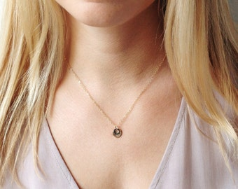 Mom Gift, Best Friend Gift, Gold Initial Necklace, Gift for Mom, Wife Gift, Mommy Necklace, Gift for Sister, Gold Disc Necklace