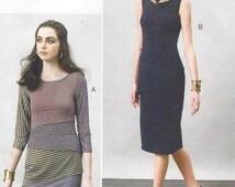 Marcy Tilton Womens Stretch Knit Tiered Dress Vogue Sewing Pattern V8904 Size 14 16 18 20 22 Bust 36 to 44 UnCut Vogue Designer Original