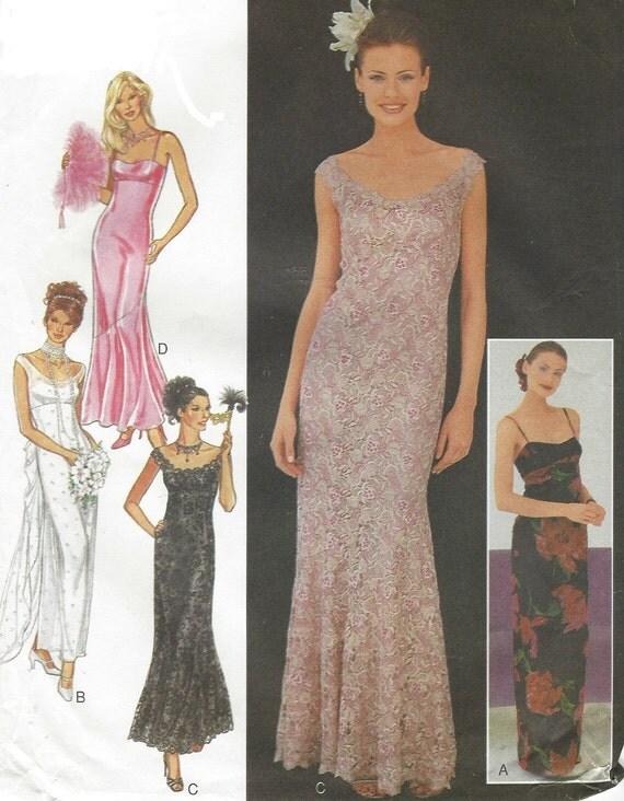 90s Womens Elegant Evening Gown Empire Waist Off the Shoulder