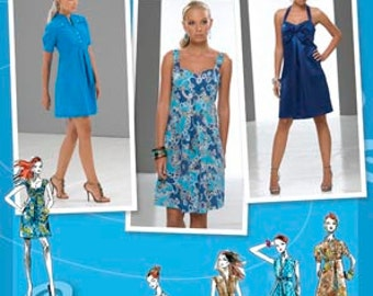 Simplicity Pattern 2694 Misses' Project Runway Dress with Bodice Variations Sizes 4-12 NEW
