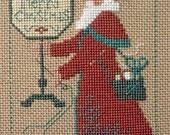 OOP 2004 Schooler Santa : Needlework Prairie Schooler counted cross stitch patterns sampler December prim folk art embroidery