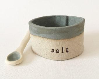 SALT SILO salt cellar dish with spoon