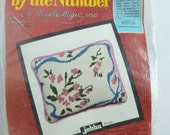 Needle Magic Needlepoint by the Numbers Pillow or Wall Hanging Kit Rick Rack Bouquet