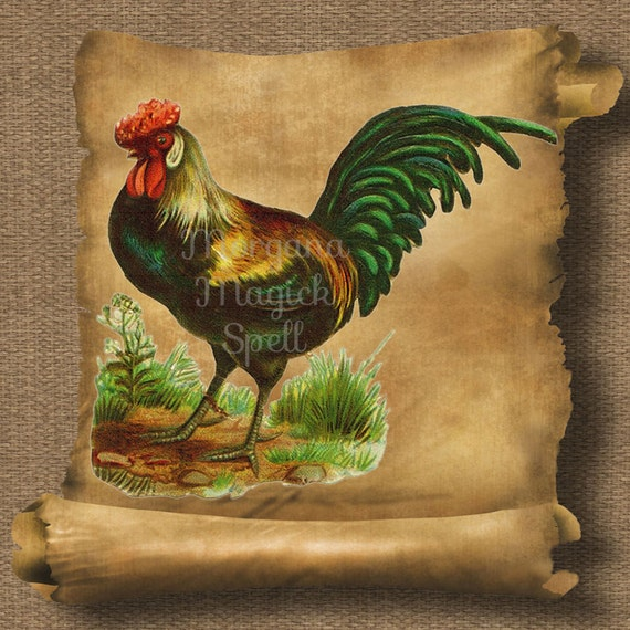 Vintage Rooster Royalty Free Clipart