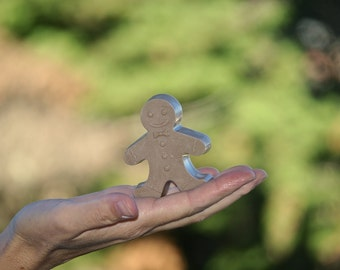 Gingerbread Man Soap Gingerbread Boy Winter Wedding Party Favor Gingersnap Cookie bath rustic winter birthday party favor coworker colleague