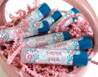 Mother's Day Lip Balm - BEST MOM EVER Lip Balm - Vanilla Mint Lip Balm - Gift for Mom Lip Balm
