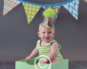 Boys First Birthday Party Outfit Or Cake Smash Set in Little Monsters