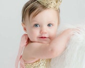 Ready to Ship ||Chloe || newborn or 1st birthday vintage mini lace crown headband|| WASHABLE ||photo prop HEADBAND option