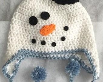 Snowman Hat 6-9 month Size