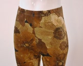 Autumn Flowers, Crushed Velvet Leggings - pick your size and length