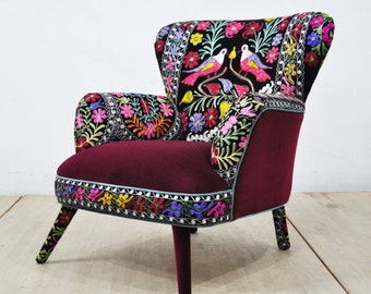 Suzani Armchair - birds in love - III
